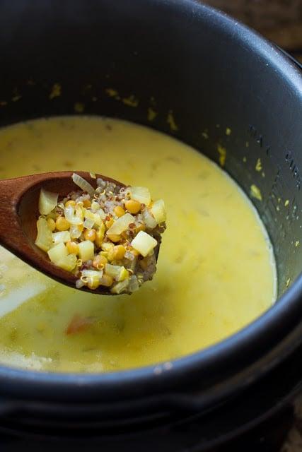 DSC 0031 2 - Coconut Quinoa Lentil Soup or Superfood Soup