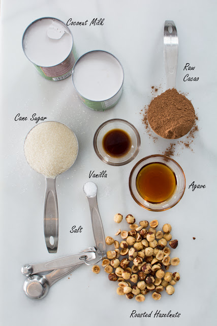 ingredients - Chocolate Hazelnut Ice Cream (Vegan)