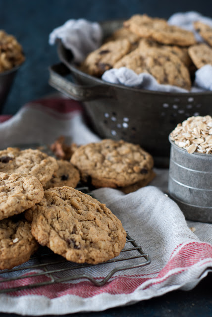 Oatmeal cookies on cookie rack