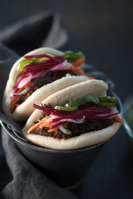 Steamed Banh Mi with Braised Beef Cheeks