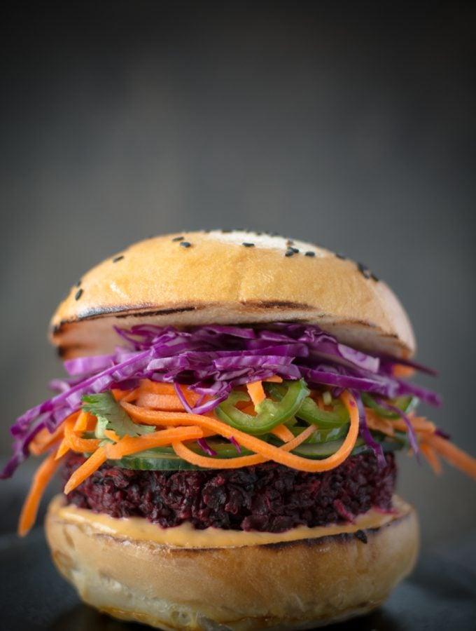 Banh Mi Beet Quinoa Burger
