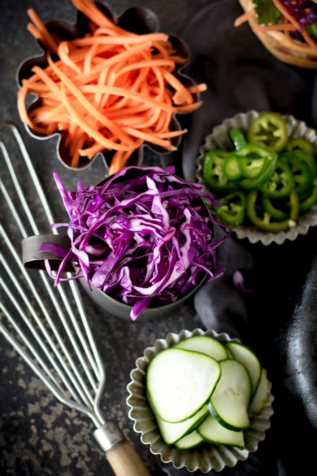 DSC 0105 - Banh Mi Beet Quinoa Burger