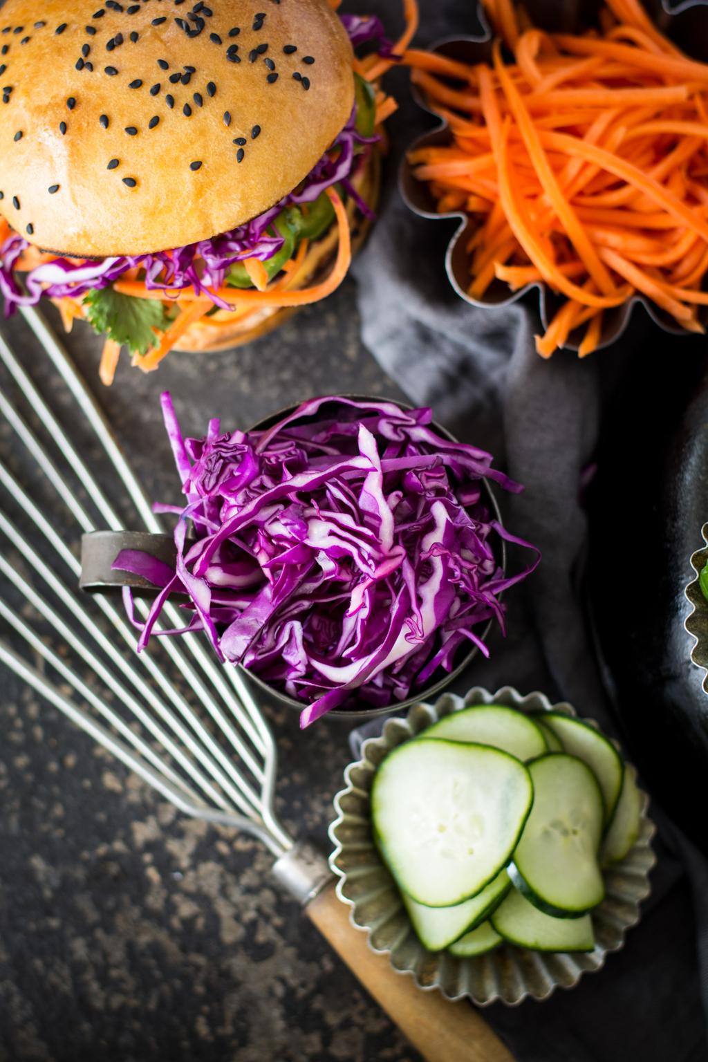 DSC 0109 - Banh Mi Beet Quinoa Burger