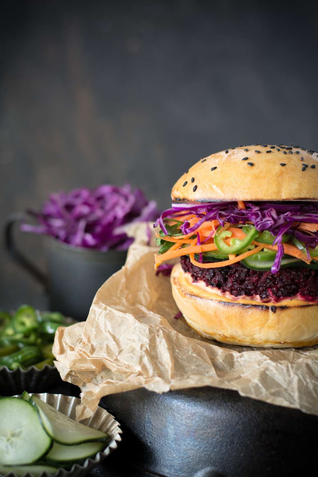 DSC 0132 - Banh Mi Beet Quinoa Burger