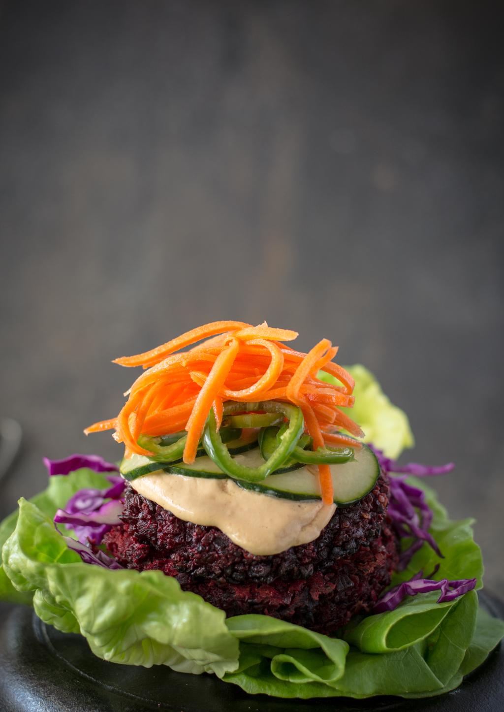 DSC 0134 - Banh Mi Beet Quinoa Burger