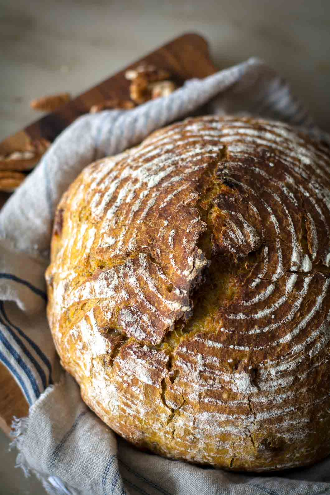 2017 09 untitled shoot 0020 1 - No-Knead Pumpkin Pecan Bread