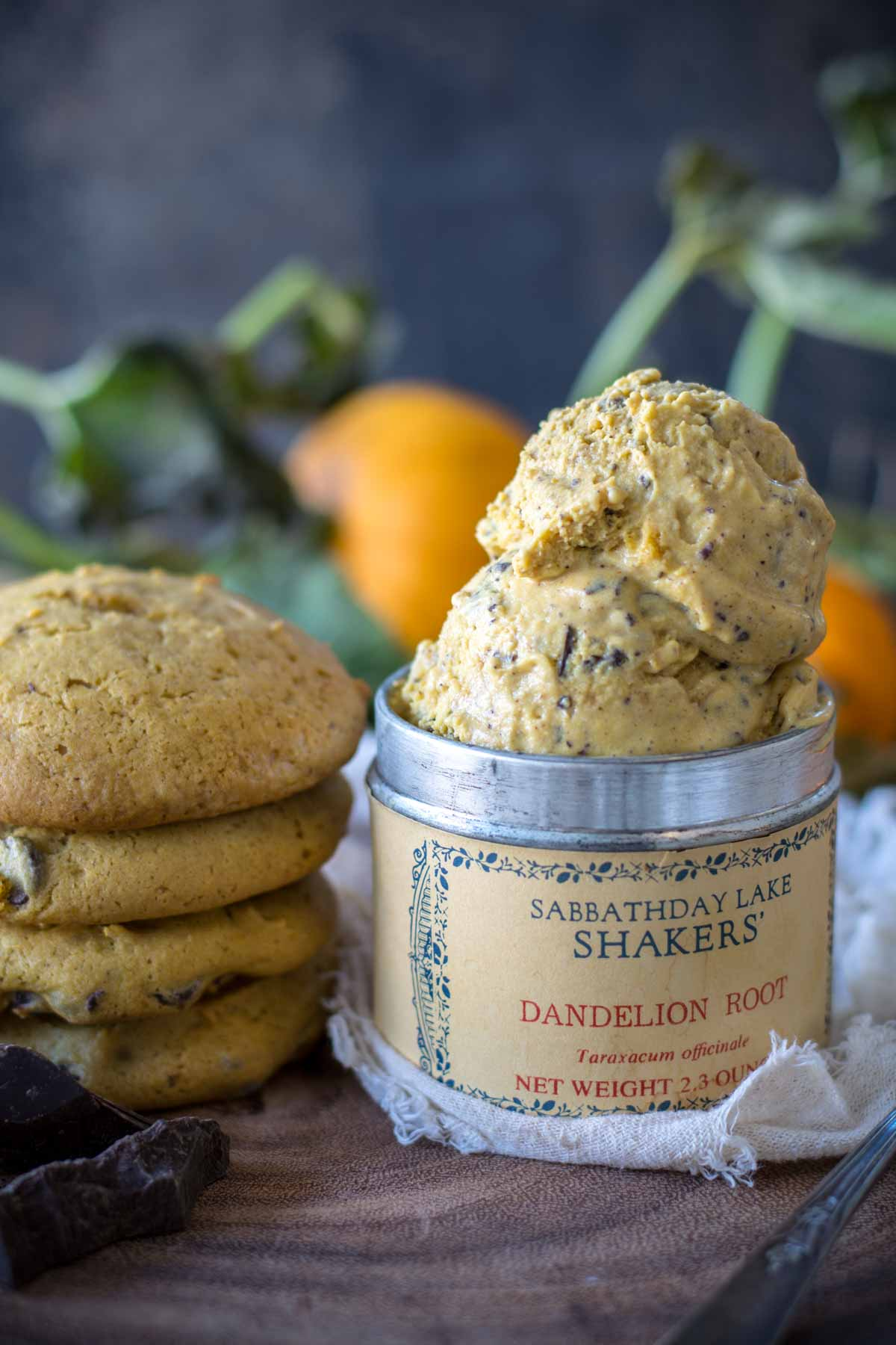Pumpkin Chocolate Chip Cookie Ice Cream