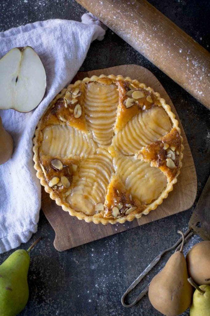 untitled 2 2 683x1024 - Pear Almond Tart