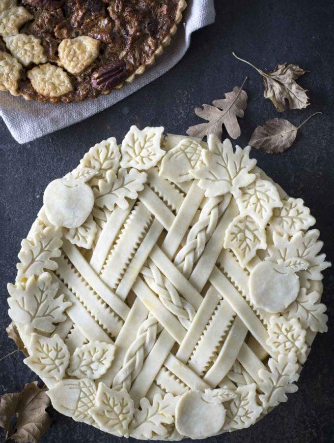 Spiced Apple Sour Cream Pie