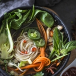 simple vegetable Pho