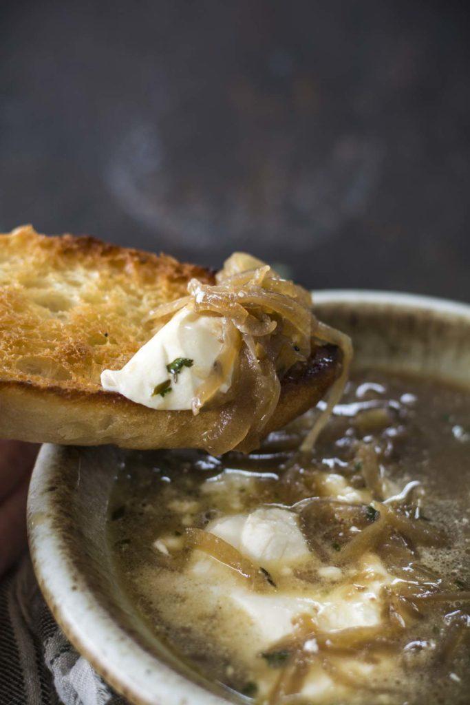 untitled 14 683x1024 - Crockpot Burrata French Onion Soup