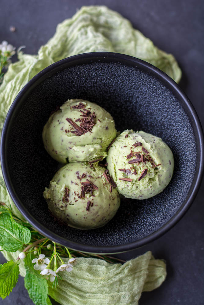 Spring Mint Chip Ice Cream