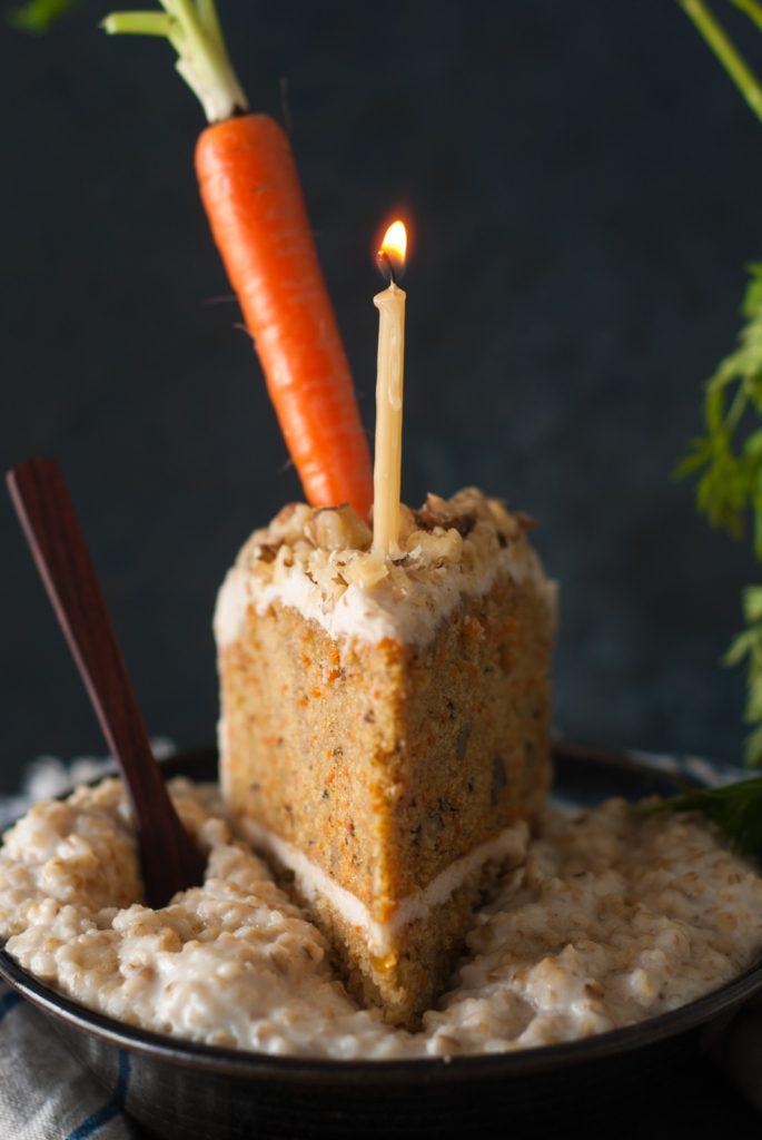 carrot cake oatmeal 685x1024 - Devil's Food Chocolate Birthday Cake