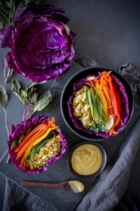 Cabbage with veggies and cashews