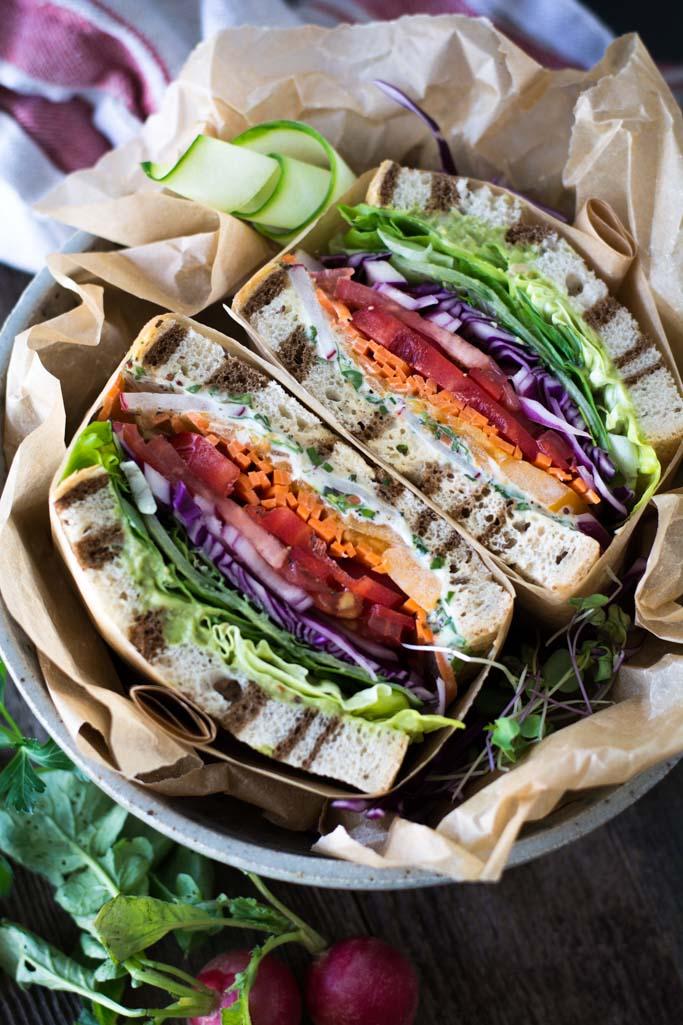 DSC 0058 - California Veggie Sandwich with Fresh Herb Mayo