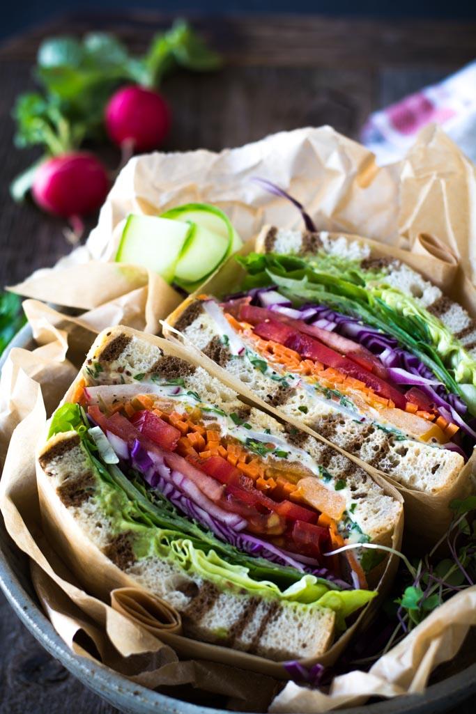 DSC 0064 - California Veggie Sandwich with Fresh Herb Mayo
