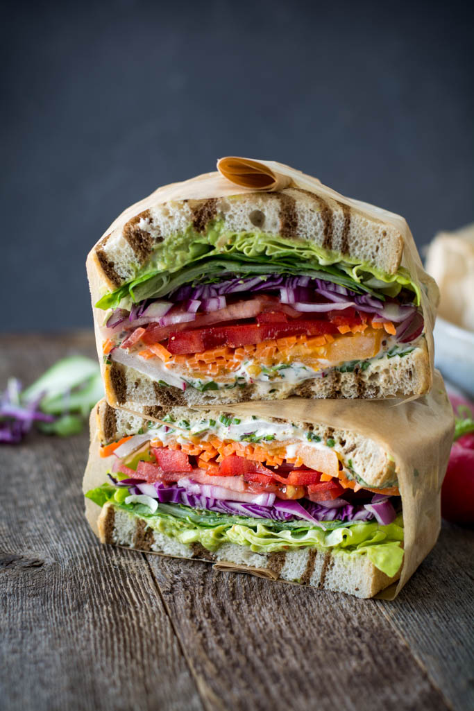 California Veggie Sandwich With Fresh Herb Mayo Simply So Good