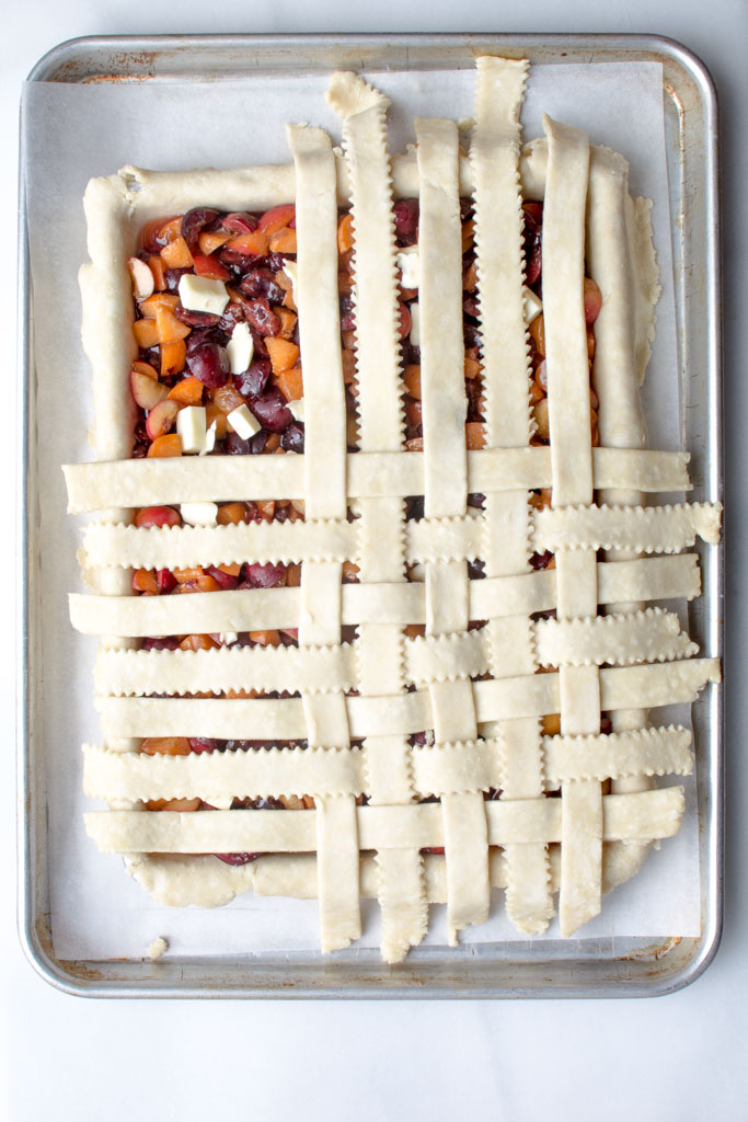 Cherry Apricot Slab Pie