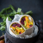 Beet wraps in a bowl