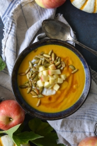 Pumpkin Apple Soup in a bowl