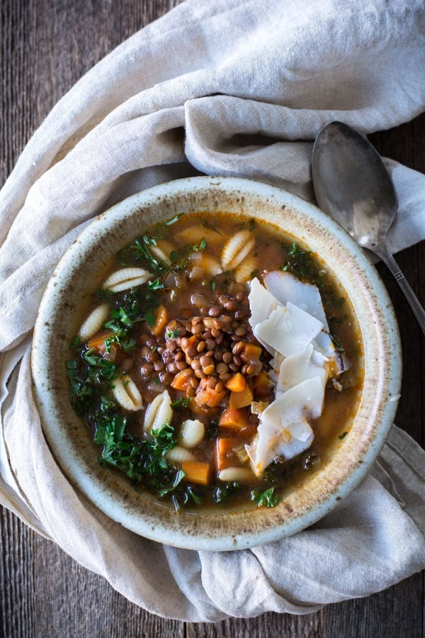 Slow Cooker Lentil Minestrone