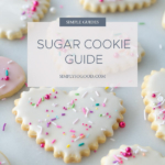 Sugar cookie guide sign with heart cookies