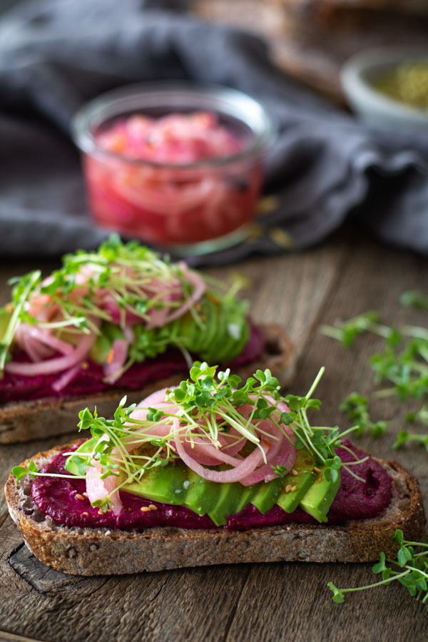 Beetroot Butter Avocado Toast