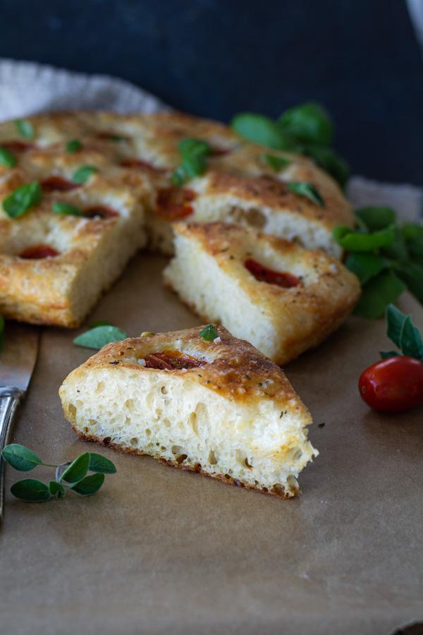 No-Knead Tomato Focaccia