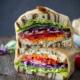 California veggie sandwich with fresh herb mayo