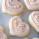 pink iced heart sugar cookies